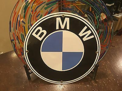 "classic BMW ""the ulitmate driving machine"" heavy DUTY metal porcelain sign"