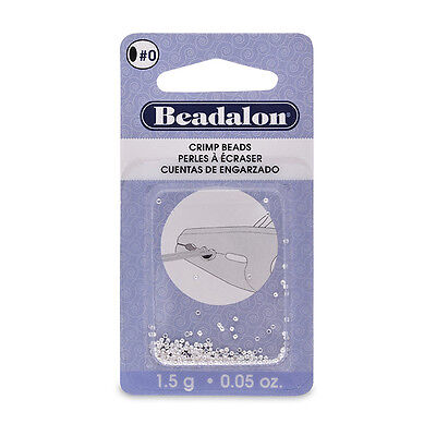 Beadalon Crimp Beads - you choose the size, colour and quantity