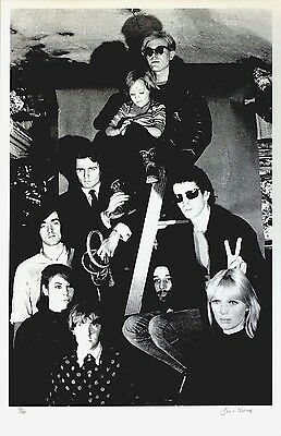 VELVET UNDERGROUND & NICO & ANDY WARHOL -Signed BILLY NAME Serigraph Print 10/40