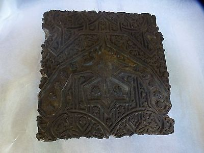 Antique Mongolian Buddhist Hand Carved Wooden Block For Amulet Print Tibitan