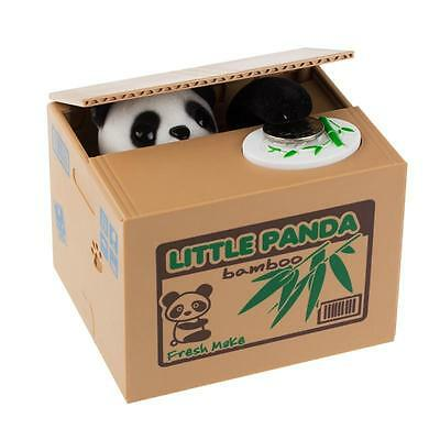Money Stealing Little Panda Piggy Bank Storage Saving Shape Cute X-mas Gift HF
