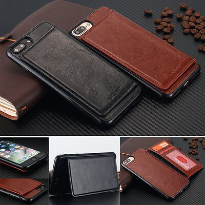 Hybrid Slim Shockproof Card Slot Stand Case Wallet Cover For iPhone 6 6S 7 Plus