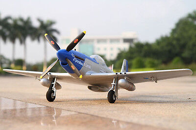 TOP P-51D Mustang RC Airplane Remote Control Plane Model Blue KIT Version