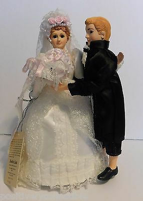 Vintage BRADLEY DOLL Dancing Animated Musical Bride & Groom Figurines NOS