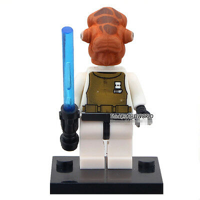 STAR WARS Rebels Admiral Ackbar with LightSaber Blocks Minifigures Gifts Toys