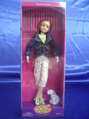 """Only Hearts Club 9"""" Soft & Fully Poseable Doll - Karina Grace & Her Dog Dotcom"""