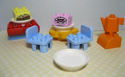 lego DUPLO 10587 lot set CAFE BAKERY STORE Furniture Tea Party Table Food Cake
