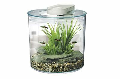Marina 360 Aquarium Tank 10L, Fish, Custom LED, Filtration System, Tropical