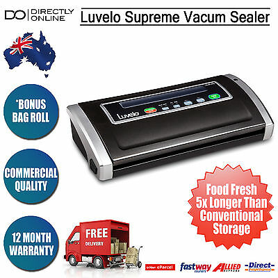 Food Saver Storage Vacuum Sealer w/ Sealing Bags Luvele Commercial Quality New
