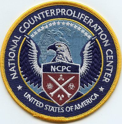 NATIONAL COUNTERPROLIFERATION CENTER Nuclear Weapons color MILITARY POLICE PATCH