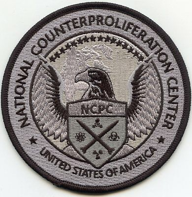 NATIONAL COUNTERPROLIFERATION CENTER Nuclear Weapons gray MILITARY POLICE PATCH