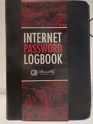 Internet Password Logbook By Picadilly 5x7 Keep Track Web Add. Log On Passwords