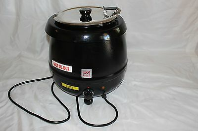 Excellante SEJ32000C 10-1/2-Quart Stainless-Steel Soup Warmer, Black, electric