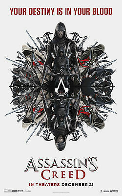 "Assassin's Creed: Movie 11""x17""HI-RES POSTER VINYL"