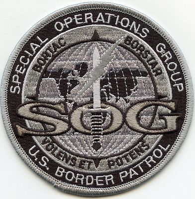 USBP SPECIAL OPERATIONS GROUP SOG subdued gray POLICE PATCH