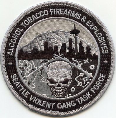 ATF SEATTLE WASHINGTON WA VIOLENT GANG TASK FORCE subdued gray POLICE PATCH