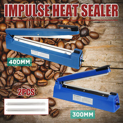 Impulse Heat Sealer Electric Plastic Poly Kraft Bag Machine 300mm&400mm Upgraded