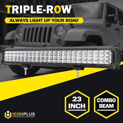 """23inch 1008W PHILIPS LED Work Light Bar TRI-ROW Combo Offroad 4WD ATV Truck 22"""""""
