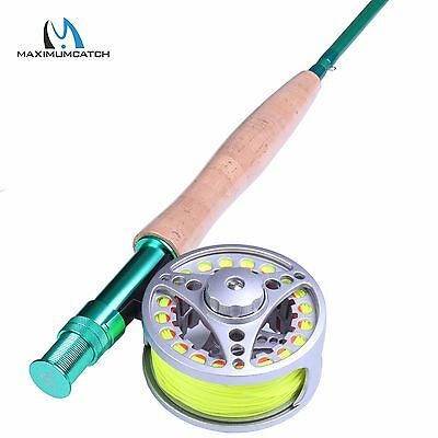 5WT 9FT Fly Rod And Reel Combo Fly Fishing Rod & Aluminum Fly Reel & Fly Line