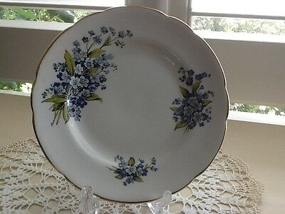 REGENCY English Bone China Replacement Side Plate16cm,Blue Floral Made England
