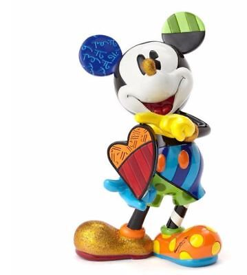 910480 Disney Britto Mickey Mouse With Rotating Heart Figurine - Showcase Coll.