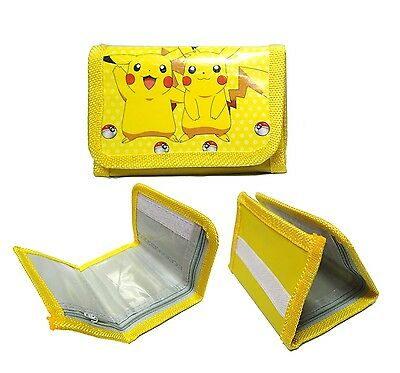 Pokemon Go Yellow Wallet Party Kids Cute Gifts Students Canvas Non Woven Velcro