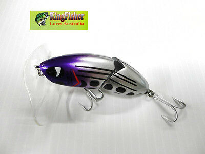 Kingfisher Mantis 88mm articulated surface lure; 11 light purple head NEW lures