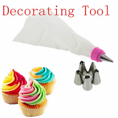 Pastry Cake Bag Icing Cupcake Nozzles HOT Tips Piping Decorating Tool