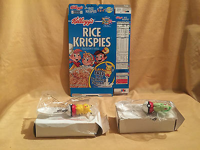 Kelloggs Rice Krispies Pokemon Talking Spoons Cereal Box with 2 Spoons
