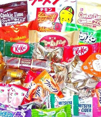 JAPANESE CANDY SWEETS SET Chocolate Cookie Snack etc. 250g (30~35pcs) Morinaga