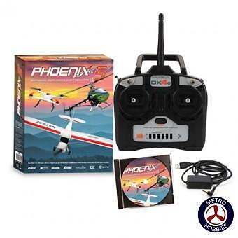 Phoenix Flight Sim 50R44001 V5 w/DX4e Mode 1 - Brand New