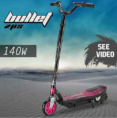 BULLET TRZ Electric Scooter 140W Adjustable and Foldable for Adults /Kids Pink