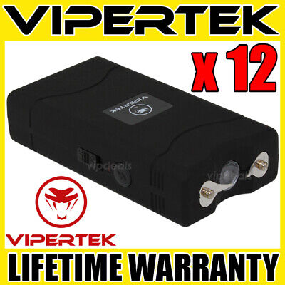 (12) VIPERTEK BLACK VTS-880 Mini Stun Gun - Wholesale Lot