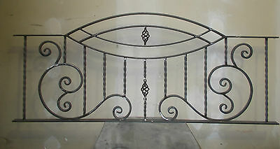 """3 x WROUGHT IRON METAL FENCING PANELS RAILING PANELS FENCE """"MADE TO ORDER"""""""
