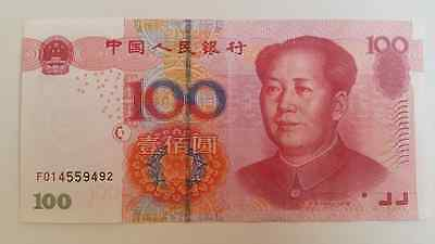 100 Chinese Yuan Rmb Circulated Authentic Real