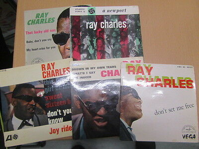 Ray Charles Collection 5 Original French Eps Newport Drown All Excellent