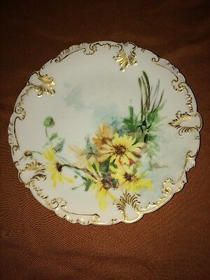 8 Inch Cfh Gdm Floral Plate Made In France
