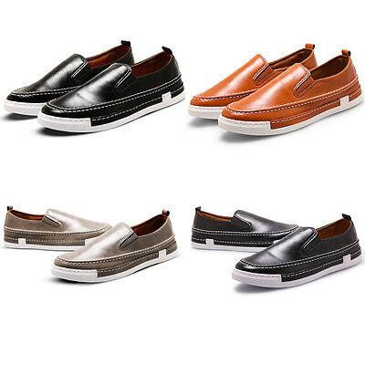 Mens Soft PU Leather Shoe Casual Moccasins Loafer Slip On Walking Driving Shoes