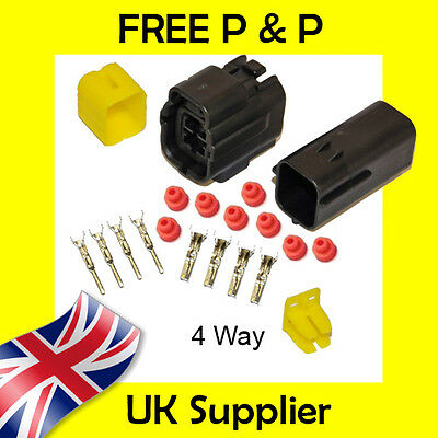 4 Way Male + Female Econoseal AMP Waterproof Wiring Electrical Multi Connector