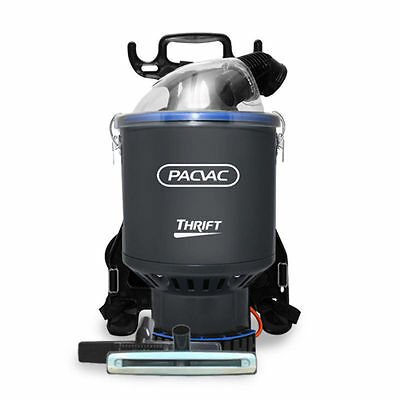 Pacvac Thrift Commercial Backpack Vacuum Cleaner + Free Carpet Turnover Tool