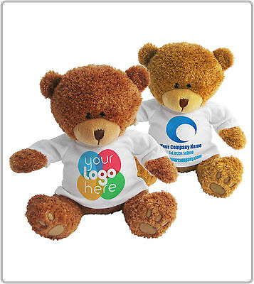 Personalised Promotional Soft Toy Edward Teddy Bear Gift Ur Company Logo Printed