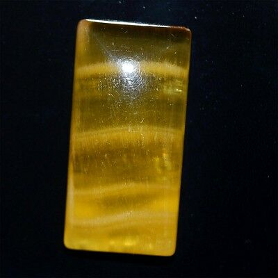 32.1 Ct 100%NATURAL MINDBLOWING YELLOW CALSITE RECTANGLE CABOCHON LOOSE GEMSTONE