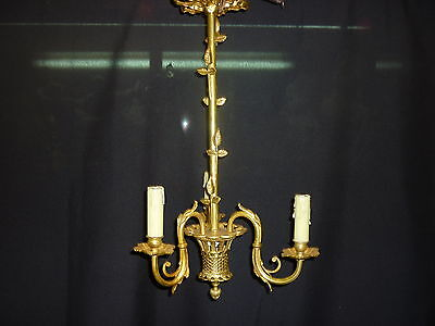Antique chandelier french of bronze. Golden. Beautiful!