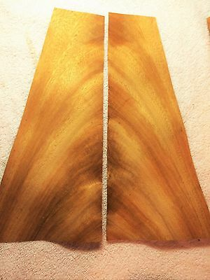 "Cerejeira Crotch flame figured wood veneer 41/"" x 32/'/' with wood back 1//20/"" thick"