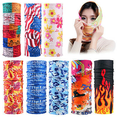 Multi Colors Biker Cycling Neck Gaiter Tube Scarf Snood Face Mask Warmer Bandana
