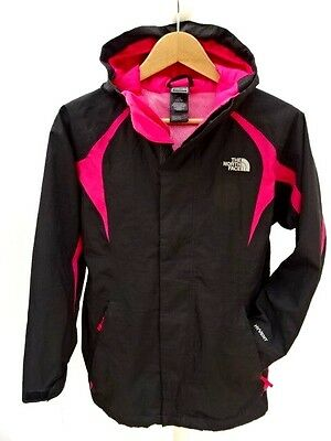 Girls THE NORTH FACE 'HYVENT' BLACK / PINK LOVELY JACKET Size LARGE (978)