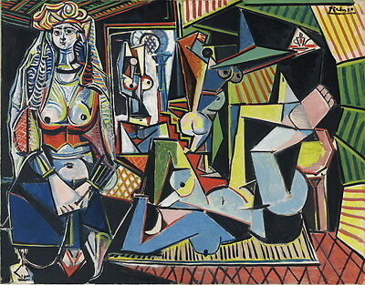 Pablo Picasso Femmes Dalger Giclee Canvas Print Paintings Poster Reproduction Co