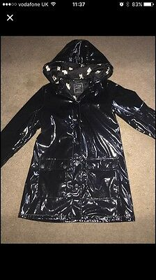 Girls Next Black Waterproof Jacket Age 9-10 Excellent Condition