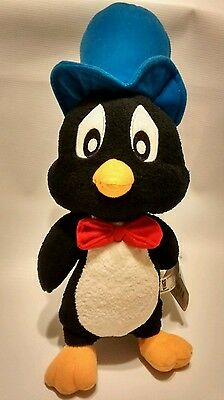 "Rare Looney Tunes Playboy Penguin Plush Stuffed Animal Toy 15"" NWT Six Flags New"