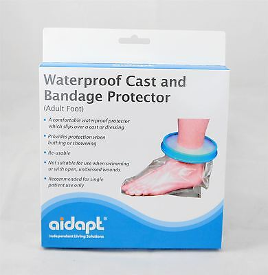 Adult Foot Waterproof Cast and Bandage Protector Cover for Bathing and Washing
